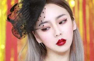 复古珍珠红唇妆画法,画完太高级了!